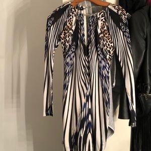 Blue white cheetah dress worn once
